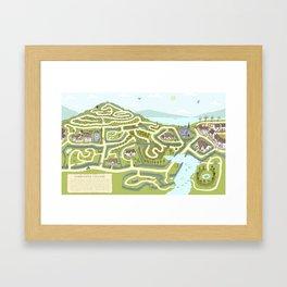 Limestone Village Maze Framed Art Print