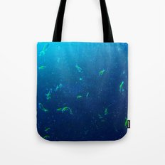 Tiny Yellow Fish Tote Bag