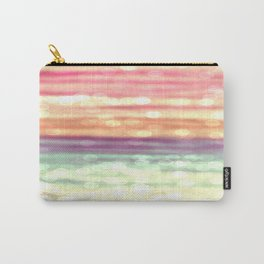 Whimsical Pastel Bokeh Stripes Carry-All Pouch
