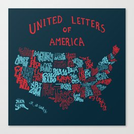 United Letter of America Canvas Print