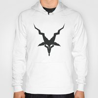 baphomet Hoodies featuring Black Metal Baphomet by ebon ibex