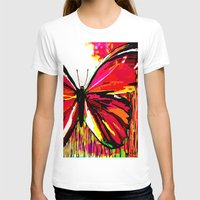 butterfly T-shirts featuring Butterfly  by Saundra Myles