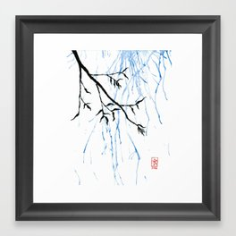 Willow and Rain Framed Art Print