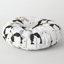 Cats and Dog Floor Pillow
