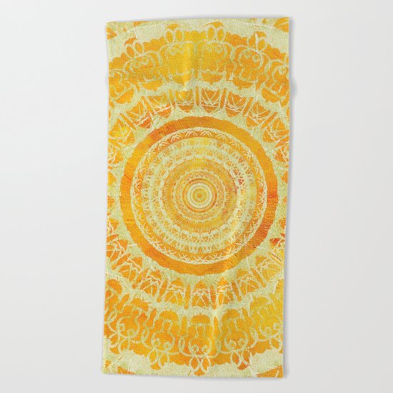 Sun Mandala 4 Beach Towel