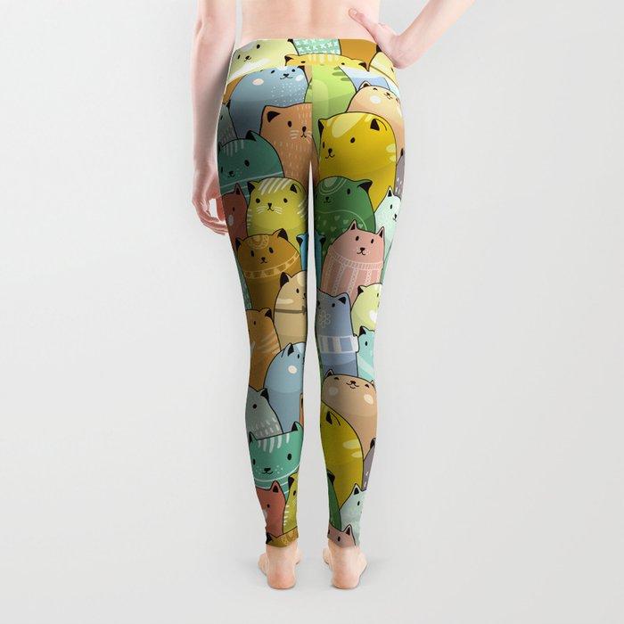 Catz Pattern Leggings