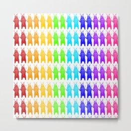 Rainbow King Bear Metal Print