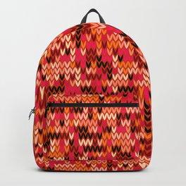Melange knit textile 3 Backpack
