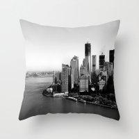 manhattan Throw Pillows featuring Manhattan  by Zakvdboom Designs