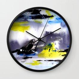 Watercolor Abstract Horizons Wall Clock