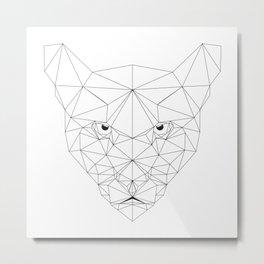 Puma black and white Geometric artwork Metal Print