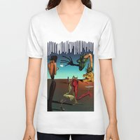 surrealism V-neck T-shirts featuring Surrealism No.1-4 by WROSIV