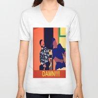 friday V-neck T-shirts featuring Friday by Courtney Ladybug Johnson