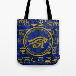 Egyptian Eye of Horus - Wadjet Lapis Lazuli Tote Bag