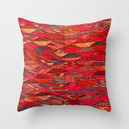 V35 Red Traditional Moroccan Artwork Pattern Throw Pillow