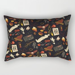 """Twin Peaks"" Pattern Design Rectangular Pillow"