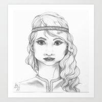 bohemian Art Prints featuring Bohemian by ATheroux