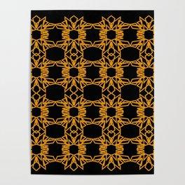 Luxury mandalas black gold Vint. Poster