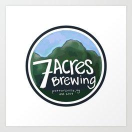 7 Acres Brewing Art Print