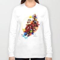 lama Long Sleeve T-shirts featuring Dalai Lama by Rene Alberto