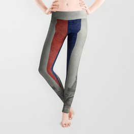 Flag of France with Eiffel Tower Vintage style Leggings