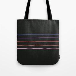Abstract Retro Stripes #4 Tote Bag