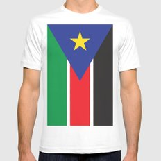 South Sudan LARGE White Mens Fitted Tee