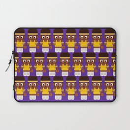 Basketball - Gold and Purple Laptop Sleeve
