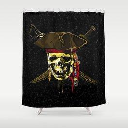 The Dark Eyes Of Pirates Shower Curtain