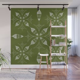 Lanterns of Morocco olive Wall Mural