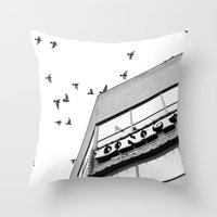 broadway Throw Pillows featuring Broadway Birds by XtinaYo