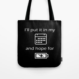 Hope For Energy Tote Bag