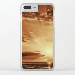 Sunset rays Clear iPhone Case