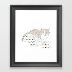 calico cat Framed Art Print
