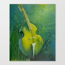 """Sunken Dreams"" Upright Bass Instrument Painting Canvas Print"