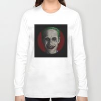 jared leto Long Sleeve T-shirts featuring JARED LETO by zinakorotkova