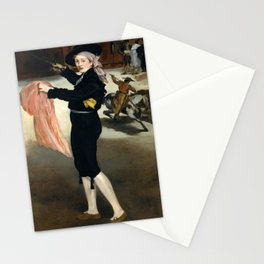 Édouard Manet - Mademoiselle V. . . in the Costume of an Espada Stationery Cards