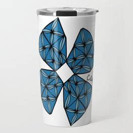 Large Blue Tapa Cross Travel Mug