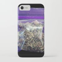 cannabis iPhone & iPod Cases featuring gram of cannabis by HiddenStash Art