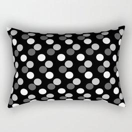 B/w Minimal Dots Rectangular Pillow
