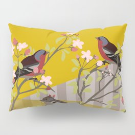 chaffinches in the cherry tree Pillow Sham