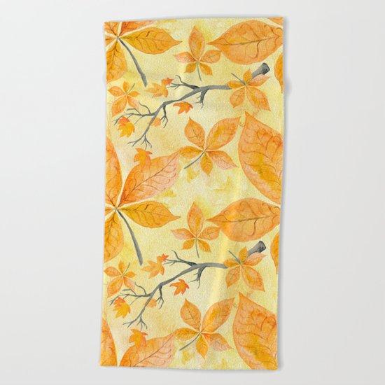 Autumn leaves #11 Beach Towel
