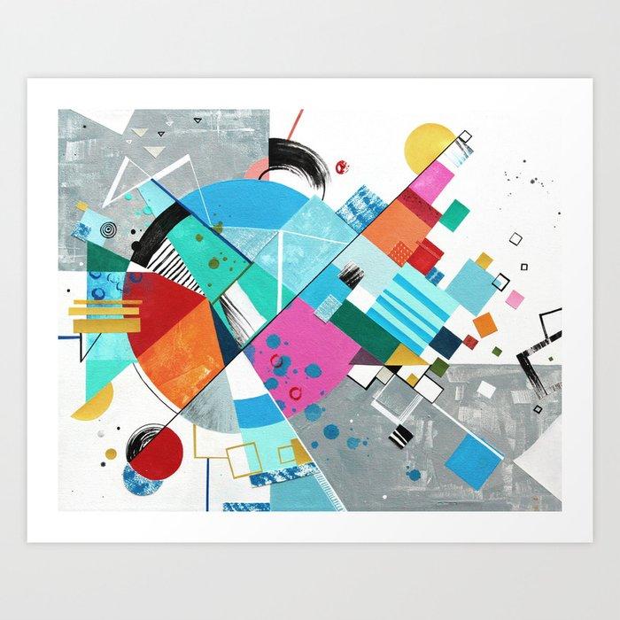 Compression Breakthrough Art Print