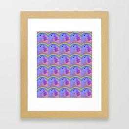 Rainbow Unicorn Collage Framed Art Print