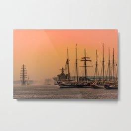 sail boston - sunrise Metal Print
