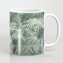 Fern Pattern Emerald Green Coffee Mug