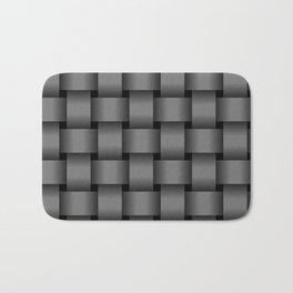Large Gray Weave Bath Mat