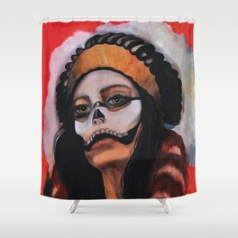 Skull Mask and Headress Shower Curtain