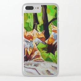 Fox Cub Four Clear iPhone Case