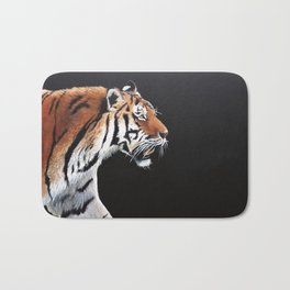 Tiger in the grass Bath Mat